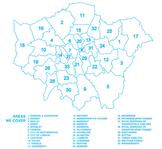 Areas We Cover